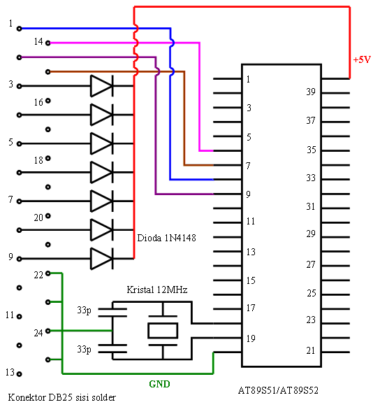 ISP downloader circuit diagram